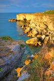 Costa di pietra Kamen Bryag Bulgaria Immagine Stock