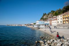 Costa di Piran fotografie stock