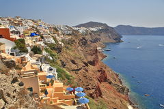 Costa di Santorini Fotografia Stock