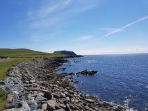 Costa di Shetland Fotografia Stock Libera da Diritti