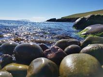 Costa di Shetland Fotografia Stock