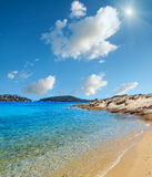 Costa di Sithonia di estate, Chalkidiki Fotografie Stock Libere da Diritti