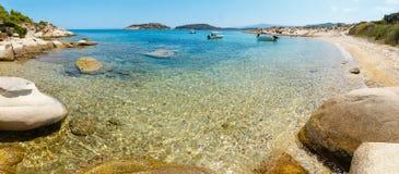 Costa di Sithonia di estate, Chalkidiki Fotografie Stock