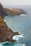Costa di Tenerife vicino al faro di Punto Teno immagine stock libera da diritti
