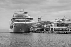 The Costa Diadema cruise ship at the cruises terminal in Savona, Royalty Free Stock Photos