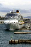 Costa Diadema in the port of Marseille Royalty Free Stock Photo