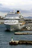 Costa Diadema w porcie Marseille Zdjęcie Royalty Free