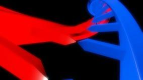 Costa do ADN capaz de dar laços em sem emenda ilustração stock