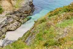 a costa do Belle-Ile imagens de stock