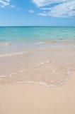 Costa do Cararibe da areia Imagem de Stock Royalty Free