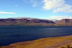 A costa do fiorde perto de Skriduland em Islândia Imagem de Stock Royalty Free