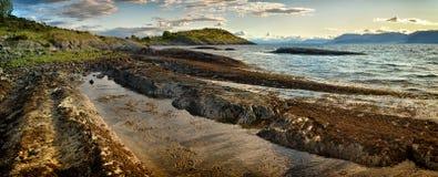 Costa do Fjord fotos de stock