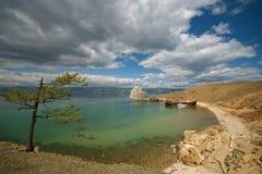 Costa do lago Baikal foto de stock