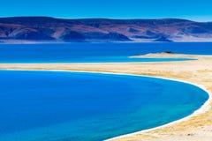 Costa do lago do namco de Zhari Fotos de Stock Royalty Free