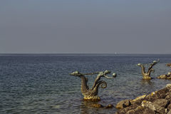 A costa do lago Genebra em Montreux Imagens de Stock Royalty Free