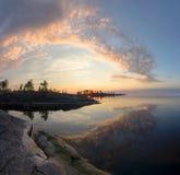 A costa do Lago Ladoga Fotografia de Stock