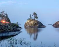 A costa do Lago Ladoga Imagens de Stock Royalty Free