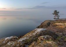 A costa do Lago Ladoga Imagens de Stock