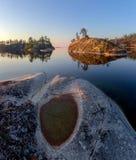 A costa do Lago Ladoga Fotos de Stock