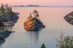 A costa do Lago Ladoga Foto de Stock