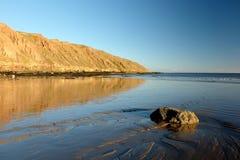 Costa do leste clara Inglaterra de Filey Brigg Yorkshire da tarde Imagem de Stock Royalty Free