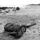 Costa do leste Inglaterra de Yorkshire da praia de Barmston Fotos de Stock Royalty Free