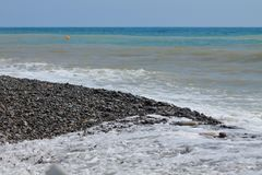 Costa do mar azul horizonte imagem de stock royalty free