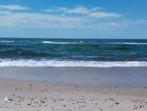 Costa do mar Báltico no cuspe de Curonian fotografia de stock
