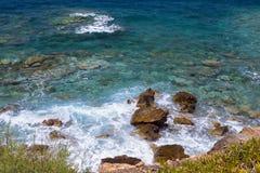 Costa do Mar Egeu na Creta Fotos de Stock Royalty Free