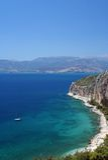 Costa do Mar Egeu perto de Nafplio imagem de stock royalty free