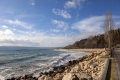 Costa do Mar Negro, Varna, Bulgária Foto de Stock Royalty Free