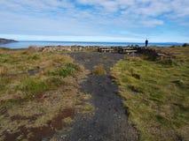 Costa do norte de Islândia perto de Husavik Imagem de Stock Royalty Free