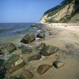 Costa do penhasco do mar Báltico Fotos de Stock Royalty Free