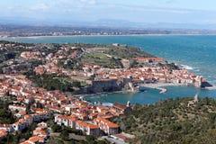 Costa do porto de Collioure Fotografia de Stock