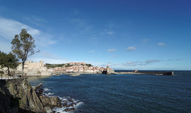 Costa do porto de Collioure Fotografia de Stock Royalty Free