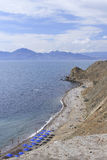 Costa do sul da península de Crimeia perto de Feodosia Fotos de Stock