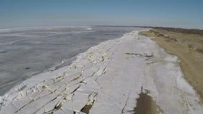 A costa do sul do Golfo da Finl?ndia com uma vista a?rea filme