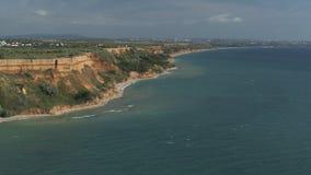 Costa do verão do mar azul filme
