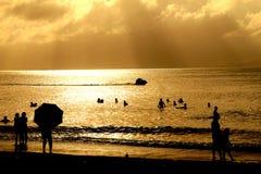 A costa dourada Fotografia de Stock Royalty Free