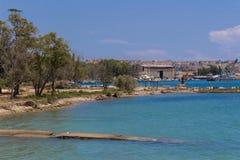 Costa e mar Imagens de Stock