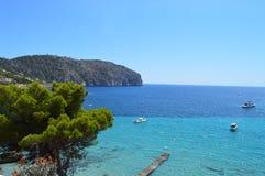 Costa e mar em Majorca Fotografia de Stock