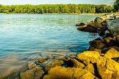 Costa e pilastro di Murray Carolina del Sud del lago immagini stock