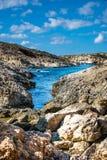 Costa e scogliere di Malta Fotografia Stock Libera da Diritti