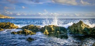 Costa e scogliere di Malta Immagini Stock Libere da Diritti