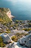 Costa e scogliere di Malta Fotografia Stock