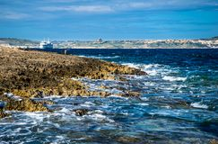 Costa e scogliere di Malta Fotografie Stock Libere da Diritti