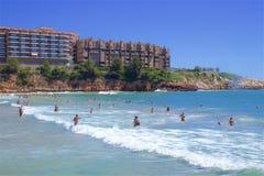 Costa e spiagge di Salou, Spagna fotografie stock