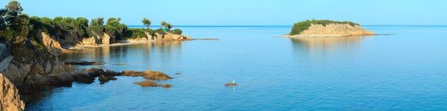 Costa egea, Sithonia, Grecia Fotografia Stock Libera da Diritti
