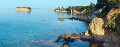Costa egea, Sithonia, Grecia Immagini Stock Libere da Diritti