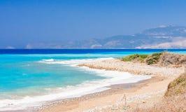 Costa egeia Rhodes Island Greece foto de stock